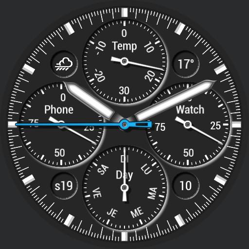 Benolf Huawei chronographe black / white