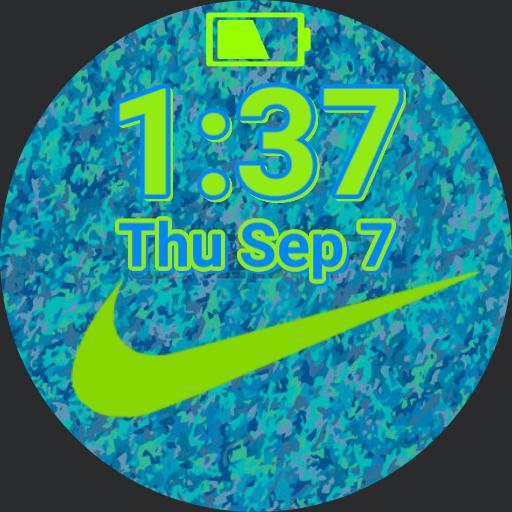 Blue  Green Nike Copy