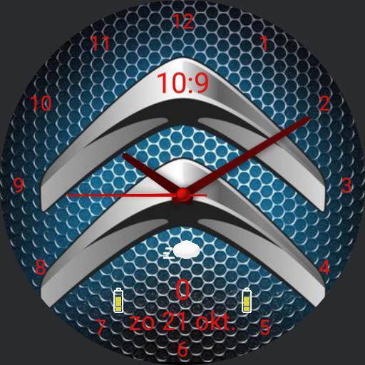Citroen logo blauw