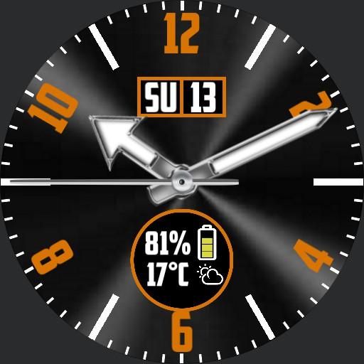 Orange and Black info face V2
