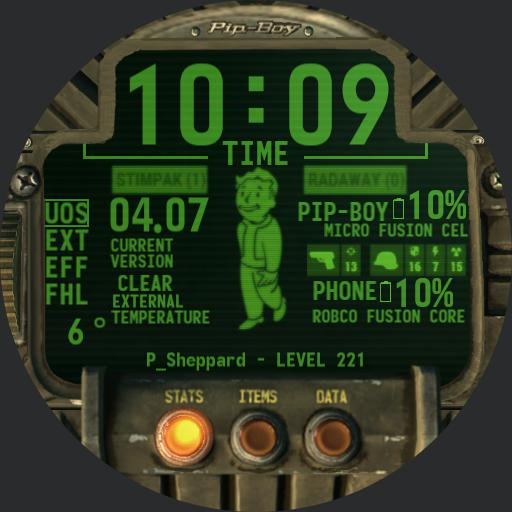Pipboy 2019 with menus and sounds for sheppard