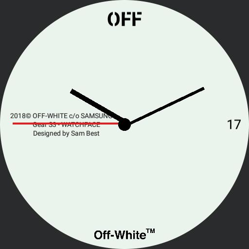 Off-White X Samsung SMARTWATCH Gear S3  Digital White OFF