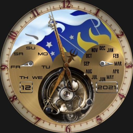 Tourbillion Sun & Moon Analog Watch