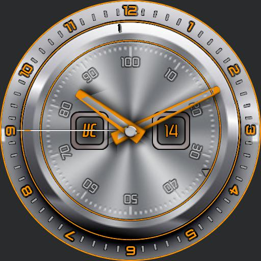 Titanium themeable classic watch