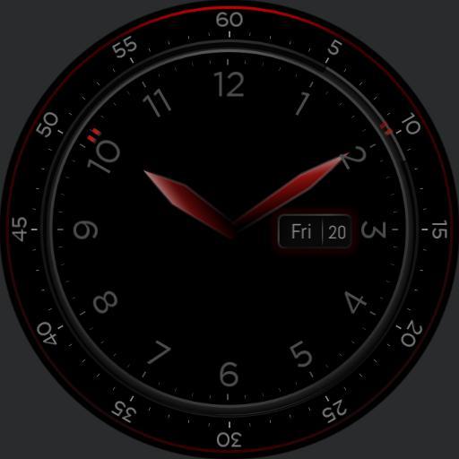Clockface AOD Red