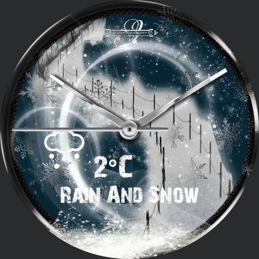 Winter Schneefall Wetter Face E. Animation