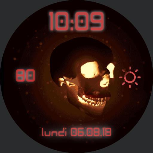 DUKE S Skull fire GIFF WATCH