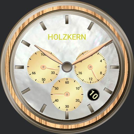 Holzkern cirrus -zebrano/perlmutt-