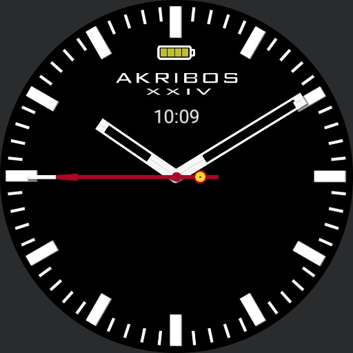 Akribos XXIV Minimal color changer battery display