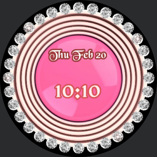 diamond bezel pink center