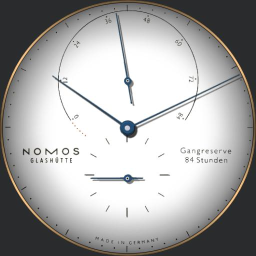 Nomos Glashutte Lambda Rose Gold 930 Caliber DUW 1001
