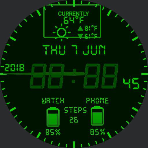 Retro info LCD brighter