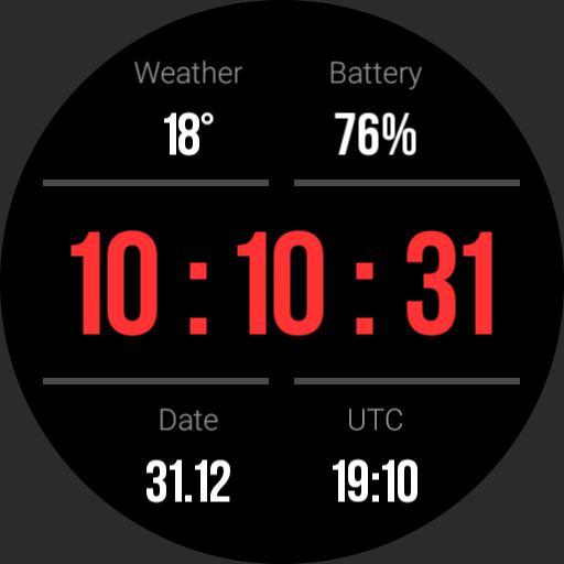 Gear S3 Dashboard Red