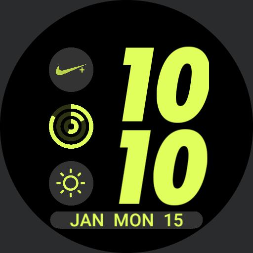 Nike Apple Watch face Volt