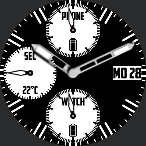 Chronograph Black and White