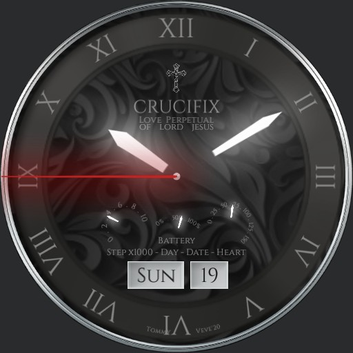 Crucifix Watch Chrono Small Watch Adjust