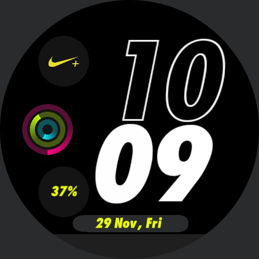 Green Nike Watch Face Moto 360
