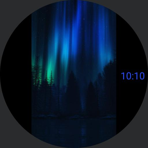 Northern Lights with app launcher for Samsung Galaxy Watch