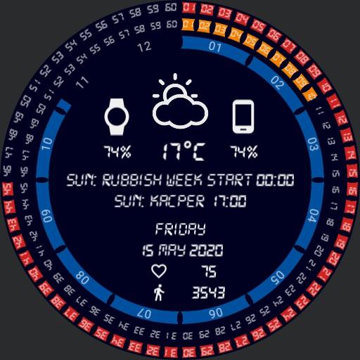 Andrzej Amiga 500 colours watch