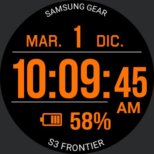 Digital watch 3 Orange