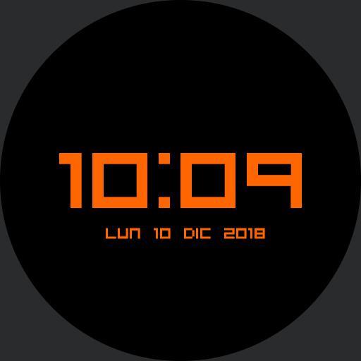 orange digit