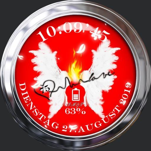 Fluegel in Flammen