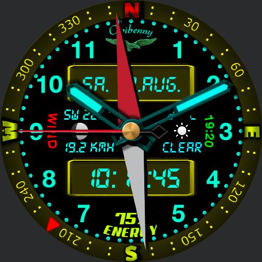 0034a Military with compass