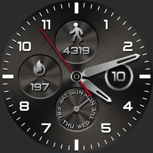 STEEL ROUND Watch Face