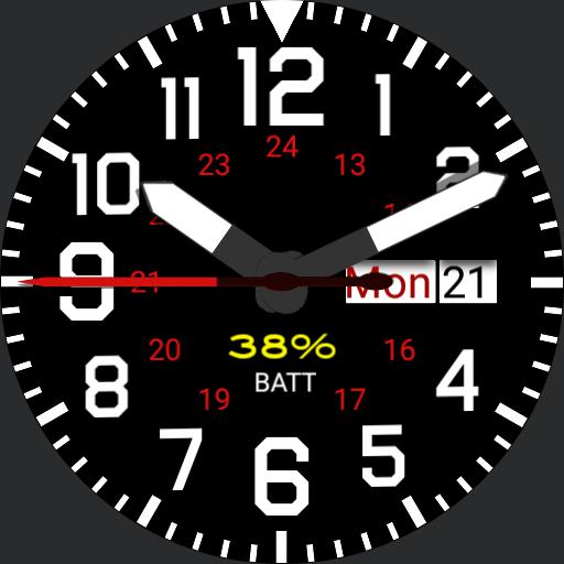 Military Watch v1.1 basic with date/calendar V.1.1