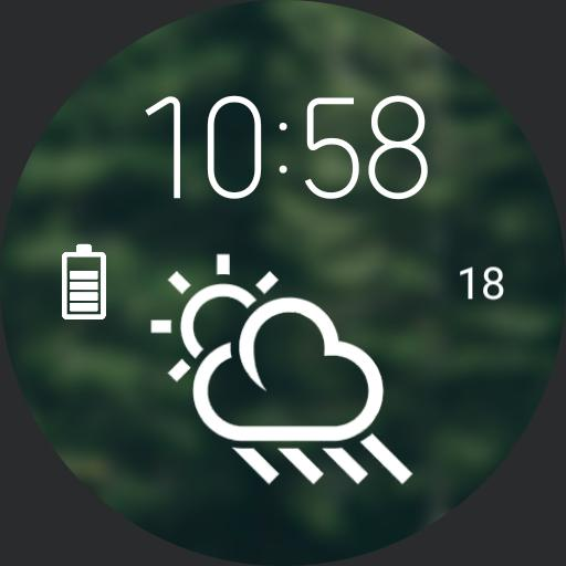Green digital watch