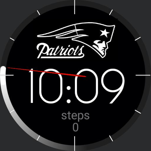 Patriots Logo watch BW