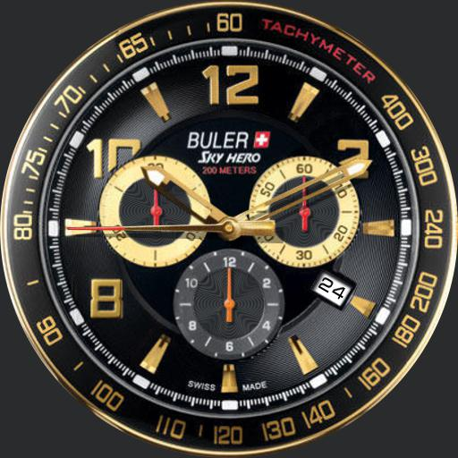 Buler Sky Hero Chronograph 2014 - Black and Gold
