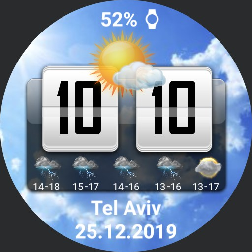 HTC weather real time