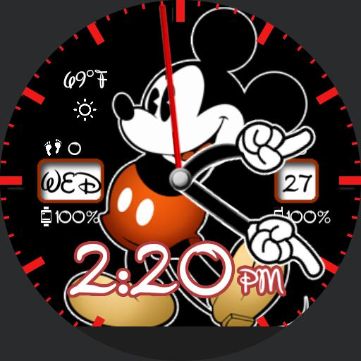 Mickey Watch - steps/HR