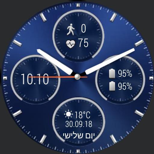 Blue Huawei clasic watch