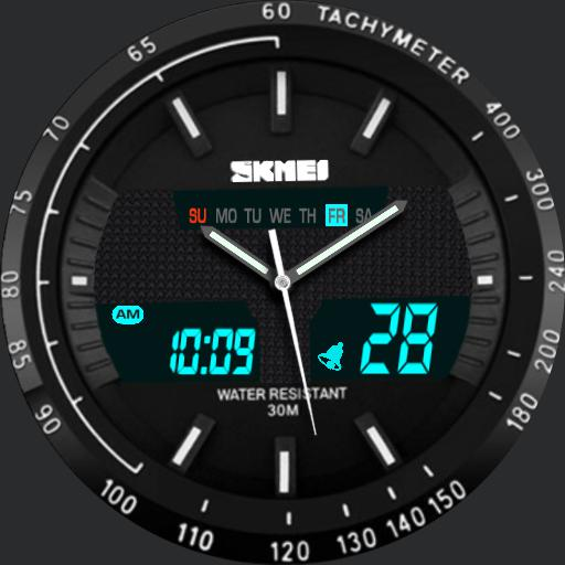 SKMEI SR626SW Black