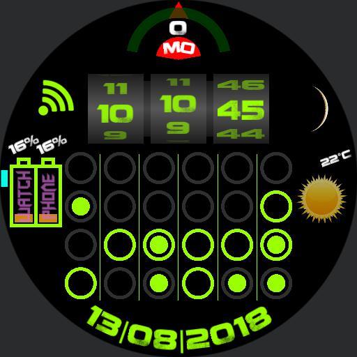 Binary and  Rotation Clock