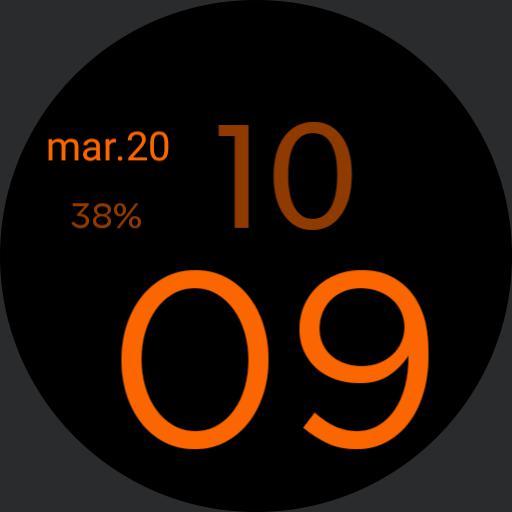 simple orange et noir
