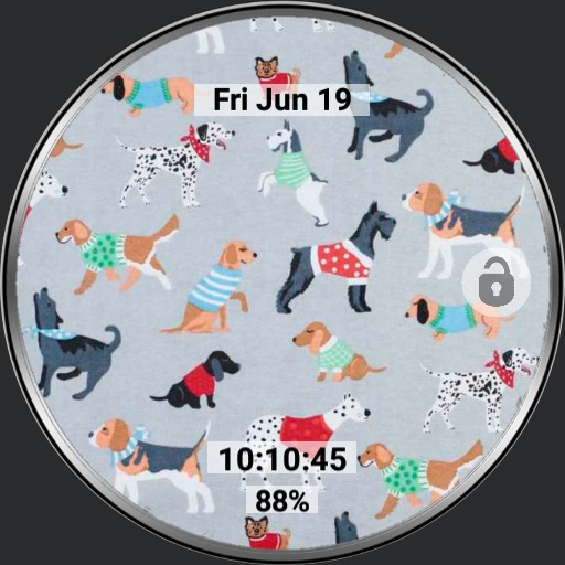 Dog themed watch 21 screens with 6 app launcher for Samsung Galaxy Watch