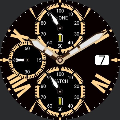 Roman Chronograph Gold