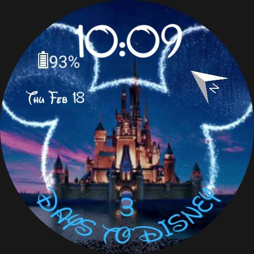 Disney castle  Countdown Fixed