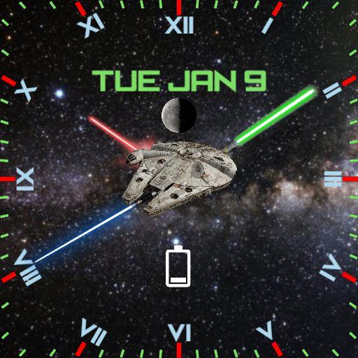 Star Wars Lightsaber Square Face