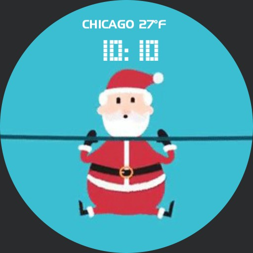 Santa push ups for Christmax - animated