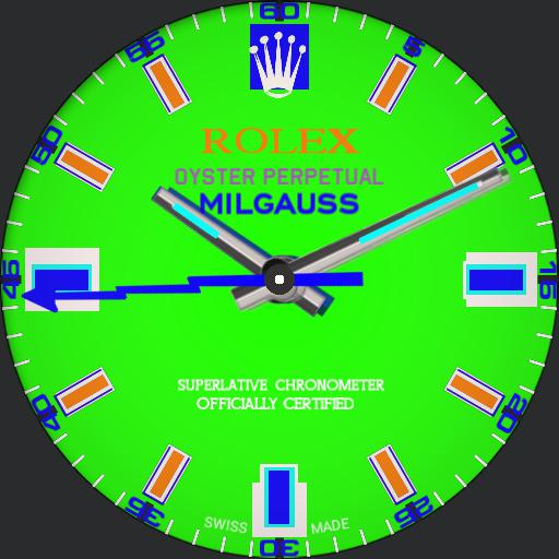 01-BERAD LEX MILGAUSS 77-dim Green Blue Orange