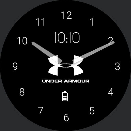 Black Under Armour Watch Face Clean