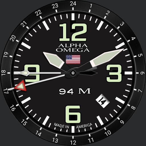 Alpha watch with GMT