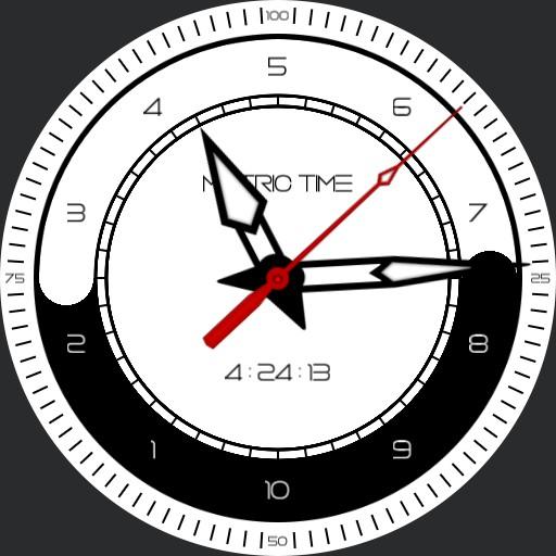Yin Yang 10h Decimal Time Watch