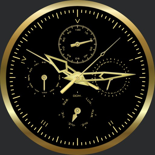 Golden Again 5h Decimal Time Watch