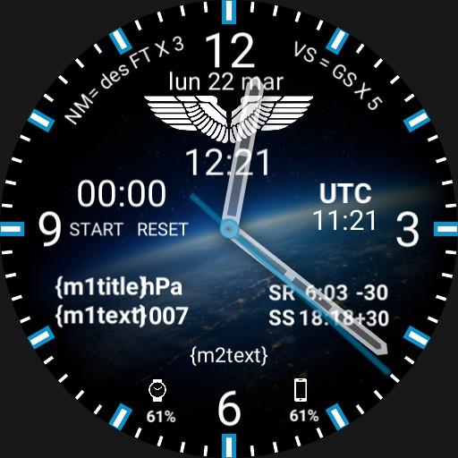 Aviation Pilot Watchface EARTH