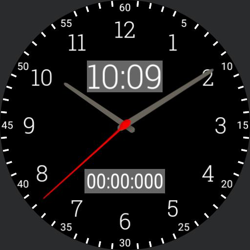 basic black stopwatch